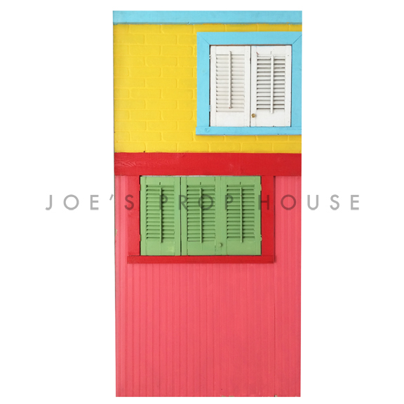 Self-Standing Rainbow Rowhouse Wall No.2 W4ft x H8ft