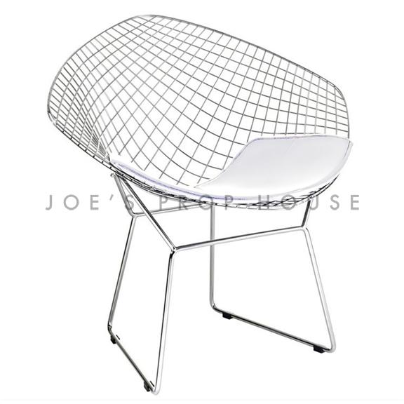 Replica Bertoia Wire Chair White Cushion