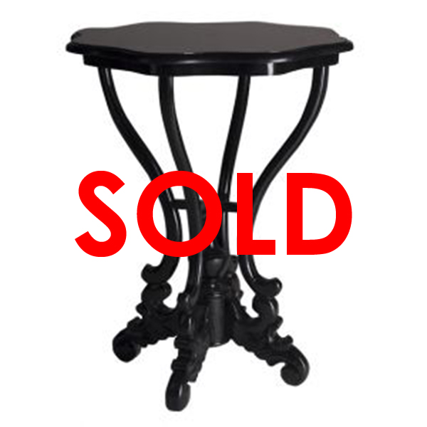 BUY ME / USED ITEM $95.00 each Scallop Round End Table Black