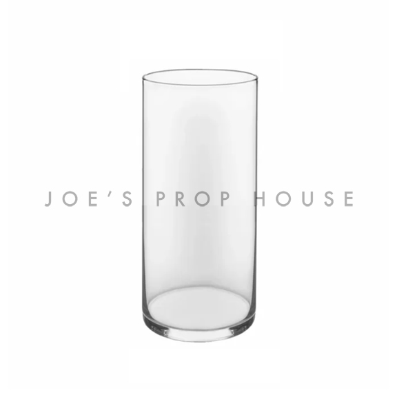 Clear Glass Cylinder Vase H9in x D3.75in