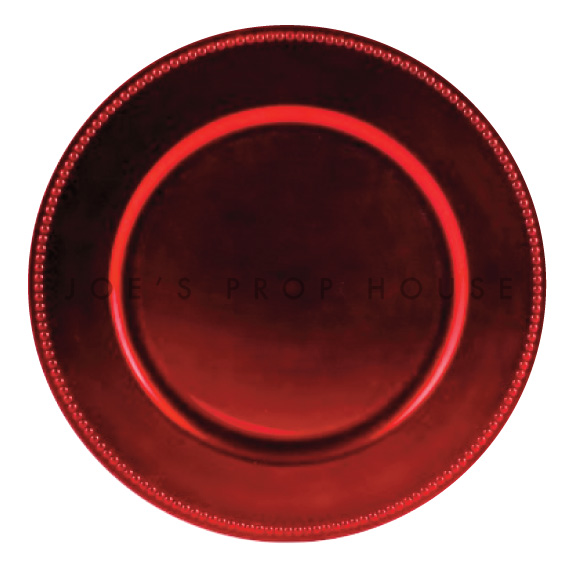 BUY ME / USED ITEM $1.99 each Red Beaded Charger Plate