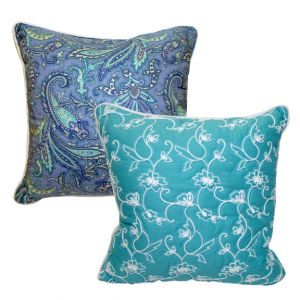 Paisley Print Accent Pillow Turquoise