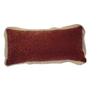 Orange Rectangular Velvet Pillow