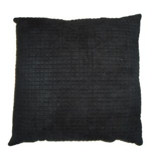 Ultra Suede Black Pillow