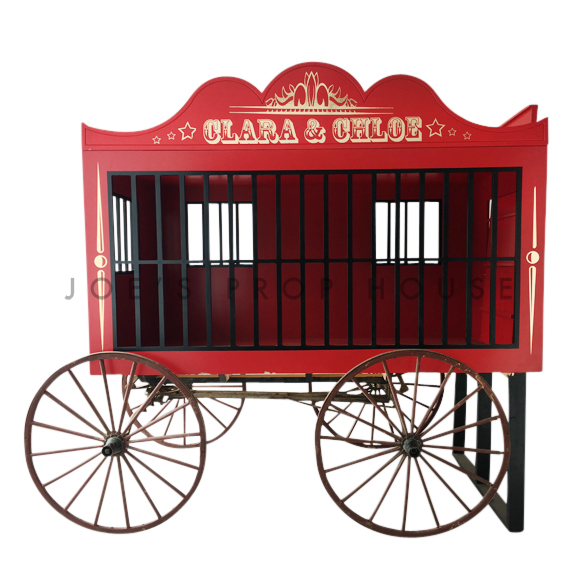 Circus Lion Cage Wagon Red
