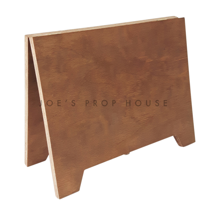 William Double Sided Self-Standing Wood Message Board Brown