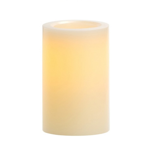 LED Ivory Pillar Candles H6in