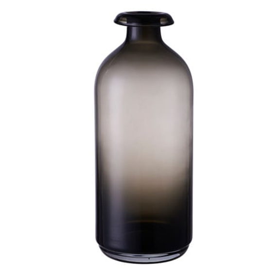 Adele Smokey Black Vase TALL H10in