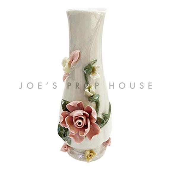 3D Porcelain Floral Bud Vase