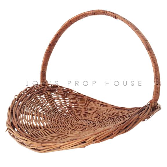 Gardeners Oval Wicker Basket w/Handle