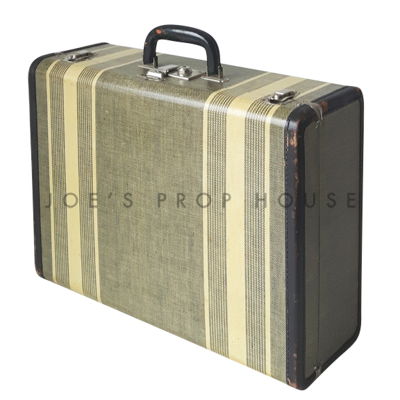 Edelman Double Striped Hardshell Suitcase Grey