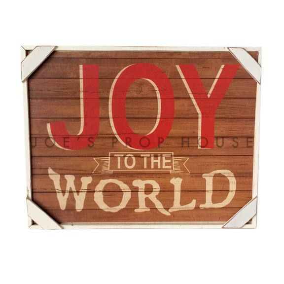 Joy to the World Sign W16.25in x H12.5in x D1.5in