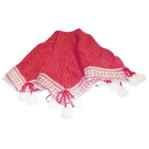 Red Pom-Pom Tree Skirt