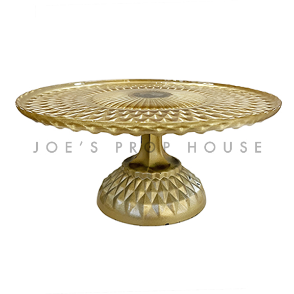 Francis Glass Pedestal Cake Stand Gold