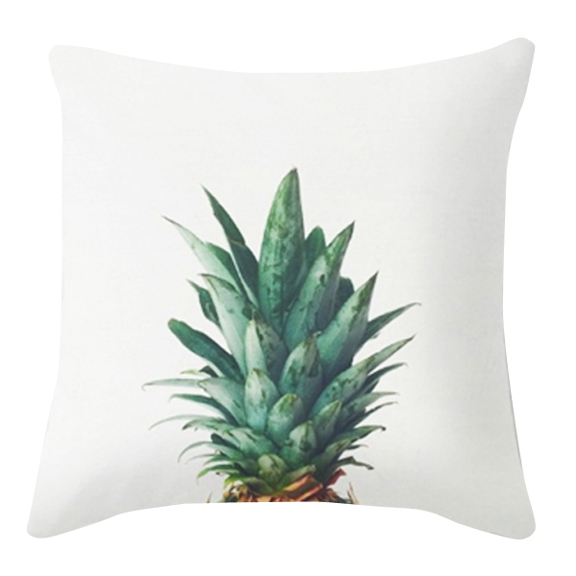 Pineapple Accent Pillow White
