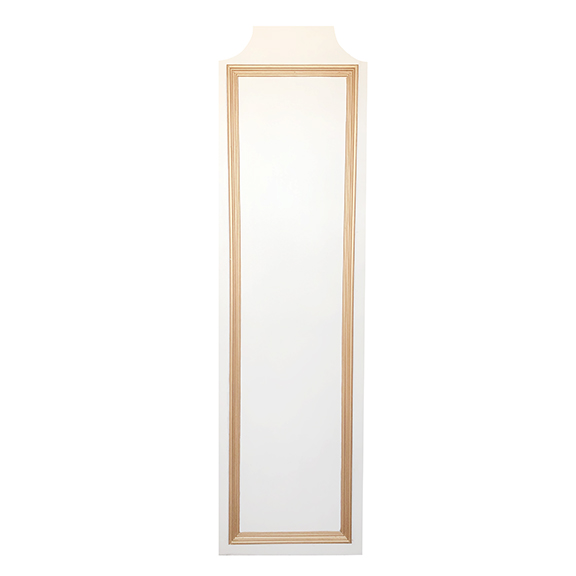Trio Self-Standing Side Panel W2ft x H7ft Ivory + Gold