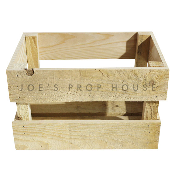 Wooden Crate Small Natural