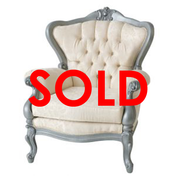 Argento Tufted Armchair Ivory