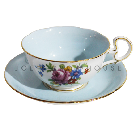 Sierra Floral Teacup and Saucer