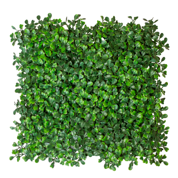 Artificial Green Boxwood Tile W12in x H12in