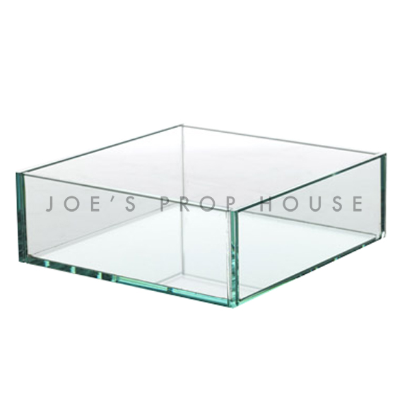 Joelle Clear Tempered Glass Square Container W12in x D12in x H4in