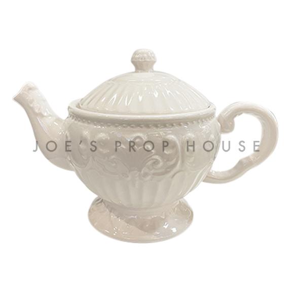 Mabel Embossed Ceramic Teapot