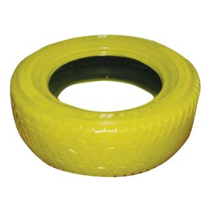 Yellow Painted Tire D18in