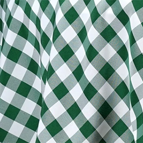 Green + White Checkered Tablecloth Square 54in x 54in
