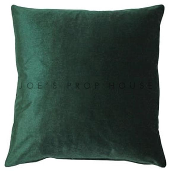 Emerald Green Velvet Accent Pillow