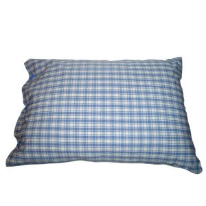 White & Blue Checkered Pillow 24in x 18in