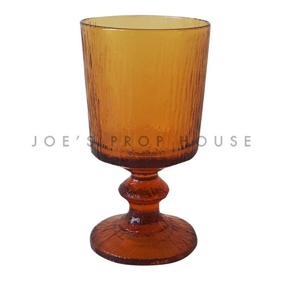 Novato Water Glass Goblet Amber