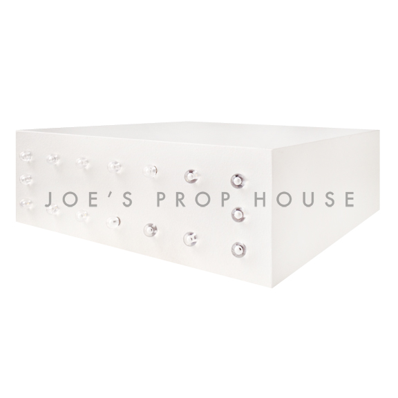 White Square Marquee Display Riser LARGE W18in x D18in x H6in