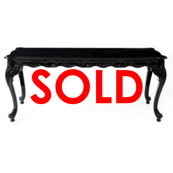 BUY ME / USED ITEM $950.00 each Baroque Noir Scallop Console Table 6ft