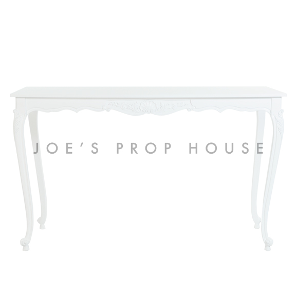 BUY ME / USED ITEM $950.00 each White Baroque Bar Height Console Table