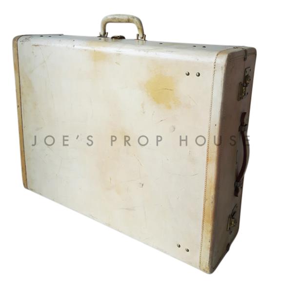 Marion Hardshell Leather Wardrobe Suitcase Ivory