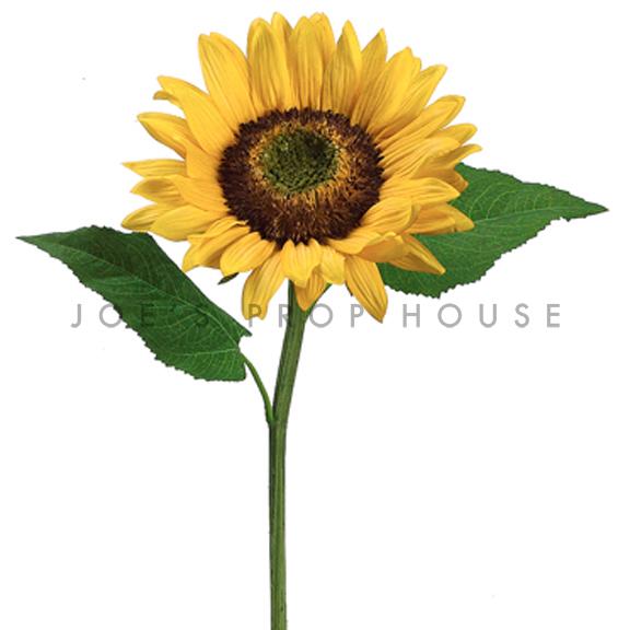 Artificial Long Stem Sunflower Yellow
