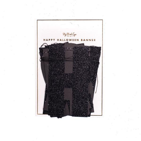 BUY ME / NEW ITEM $15.99 each Happy Halloween Black Glitter Paper Letter Garland