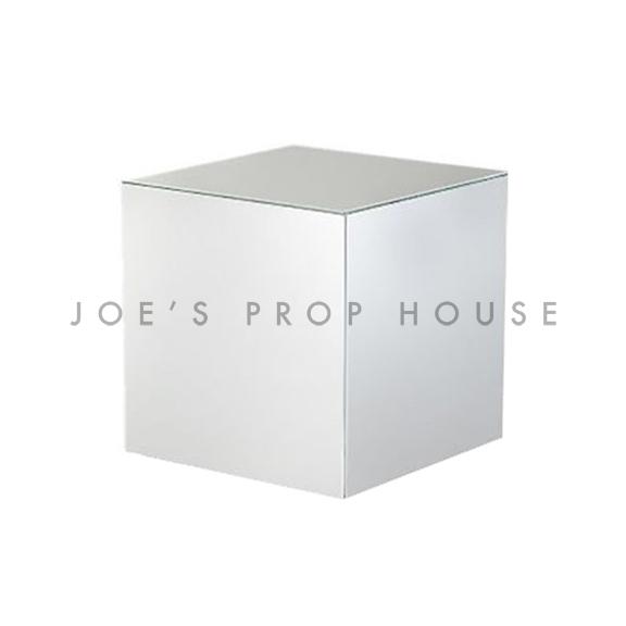 Silver Chrome Cube Display Riser W6in x H6in x D6in