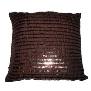 Square Brown Sequins Pillow