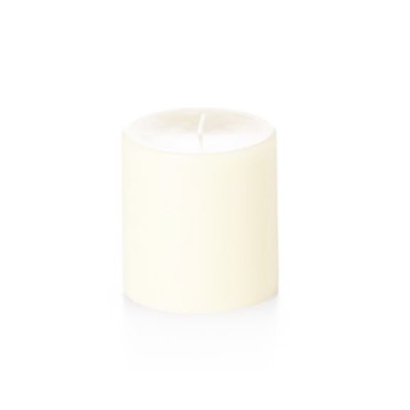 Unscented Ivory Pillar Candles 4in x 4in