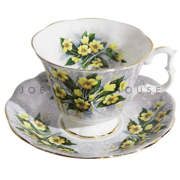Anastasia Floral Teacup and Saucer