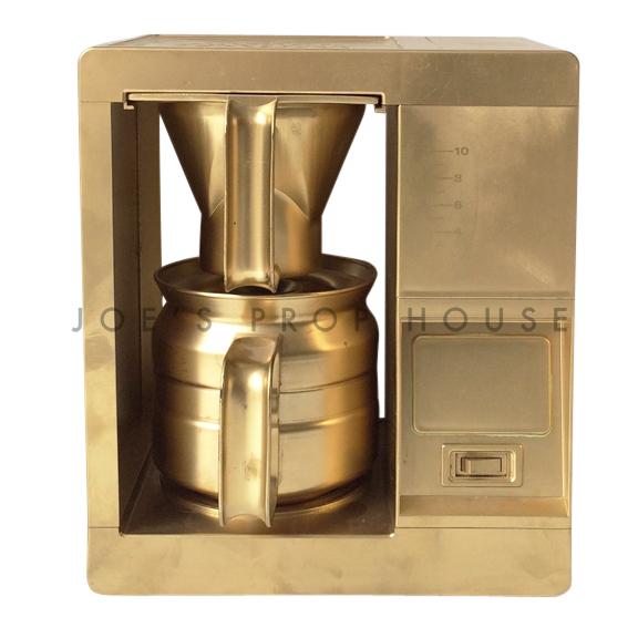 Instant Coffee Machine w/Coffee Pot Gold