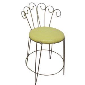 Carla Vanity Chair Yellow