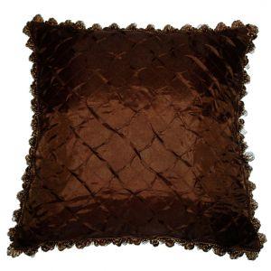 Brown Pillow w/ tassels