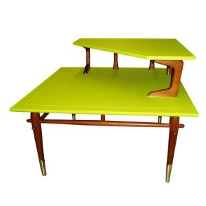 Alma Corner Coffee Table Lime Green
