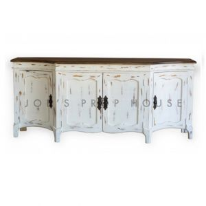 Toulouse Distressed Sideboard w/Cabinet Doors Whitewash