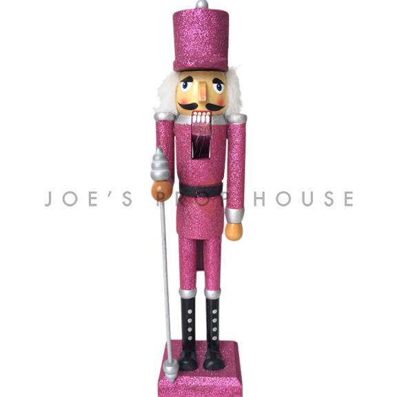 Pink Glitter Nutcracker