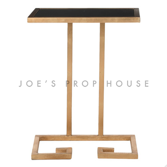 Hollywood End Table Gold/Black