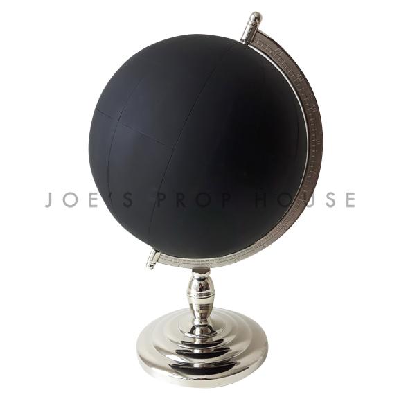 Chalkboard Globe Black w/Chrome Base