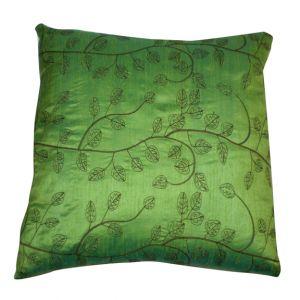 Green Leaf Print Pillow